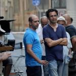 """Checco Zalone sul set del film """"Sole a Catinelle"""" a Padova"""