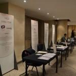 I desk dei partecipanti in sala