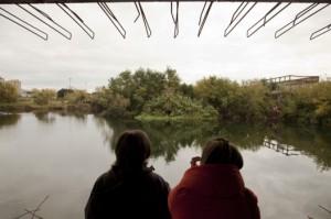 pellegrinaggio dei cittadini  al lago