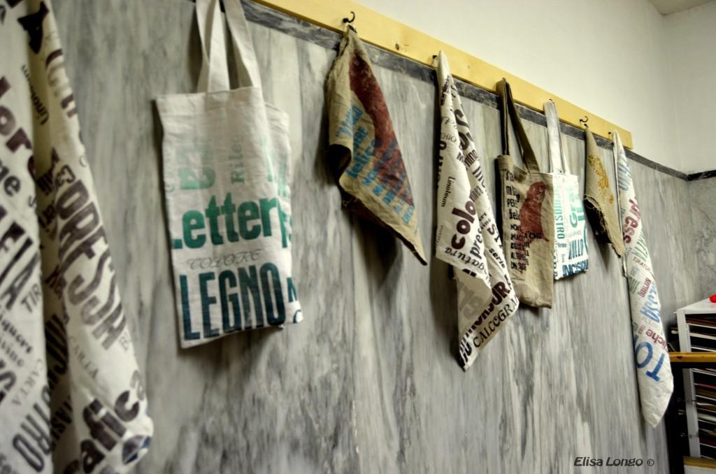 borse di stoffa stampate in loco