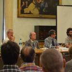 da sx Gianni Palumbo (portavoce forum terzo settore), Alfonso Pascale (Fattorie sociali), Massimo Leone (presidente Iford)