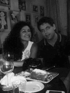 Elisa Longo, giornalista, e Alessandro Cives