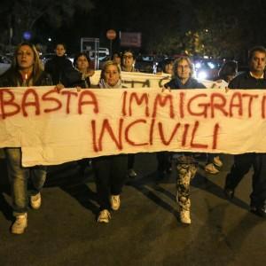 Manifestazione di cittadini a Tor Sapienza