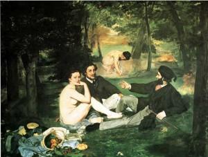 """Edouard Manet: """"Colazione sull'erba"""""""