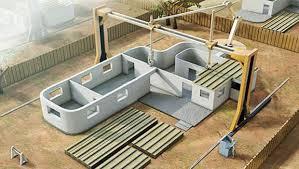 stampante 3 D che costruisce case
