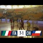 Italia Chile in campo