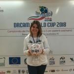 Viola Rullo presenta il pallone firmato dai ragazzi che verrà donato al Museo del Calcio di Roma come simbolo di valori del calcio per la salute mentale